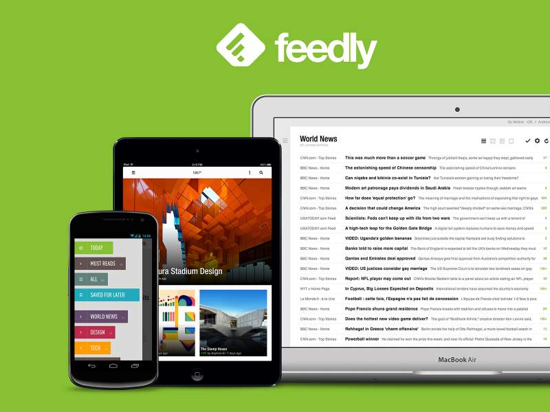 Application actualités news Feedly sur Androïd